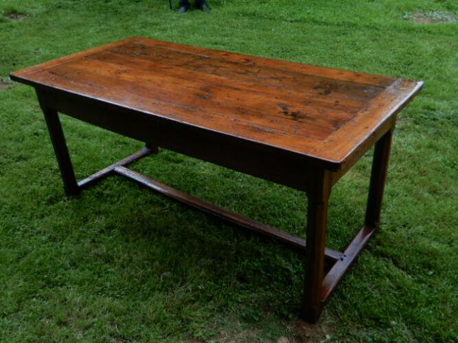 Table de ferme ancienne  fin 19e chêne massif