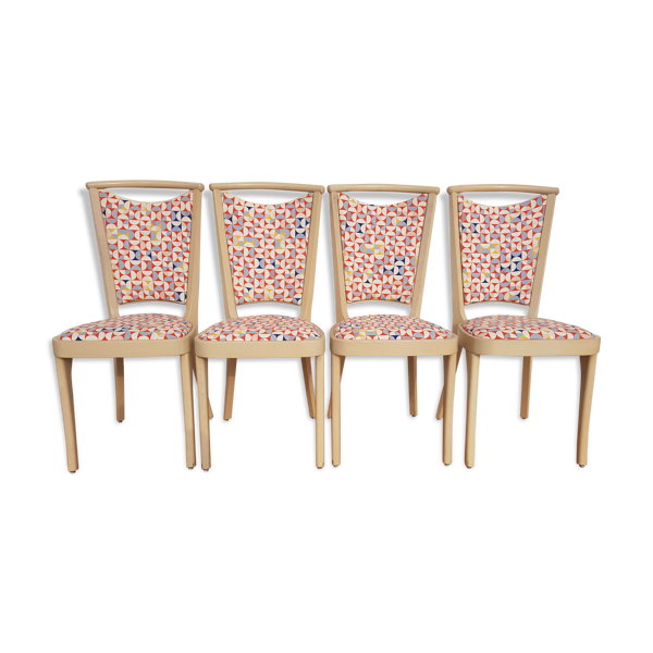 Set de 4chaises anciennes  Baumann France