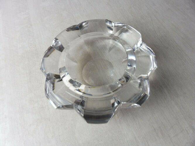 Ancien cendrier en cristal taillé, Saint Louis