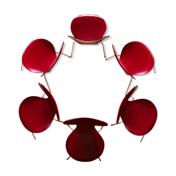 Lot de 6 chaises Arne Jacobsen