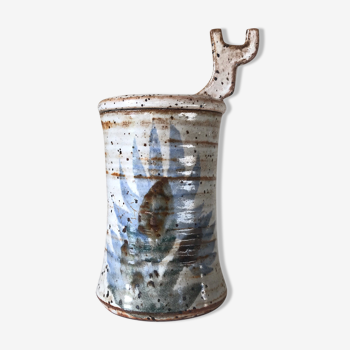 Covered ceramic pot Gustave reynaud the mulberry ventage design 60 years