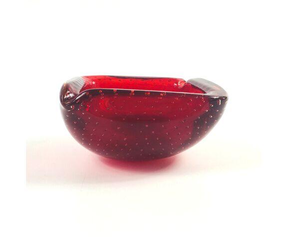 Cendrier en verre Murano Bullicante du milieu du siècle / Bowl, années 1960