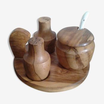 Moutardier sel et poivrée bois d'olivier provencal