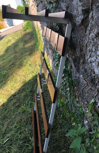 Portemanteau mural bois vintage Années 60