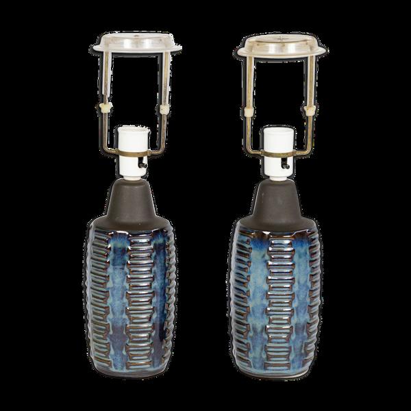 Paire de deux lampes par Einer Johansen, Danemark années 60
