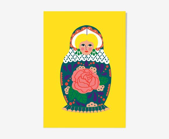 """Illustration """"les poupées russes"""" a4"""
