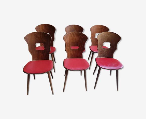 6 chaises bistrot baumann gentiane