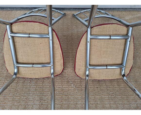 Chaises anciennes de cuisine années 60 70