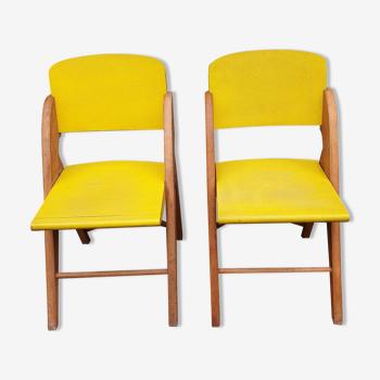 Paire de chaises vintage annees 1950