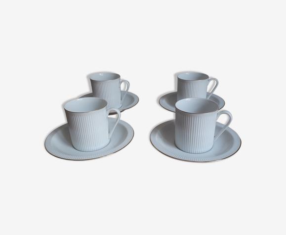 Set de 4 tasses et sous-tasses arzberg germany forme 2075 athena