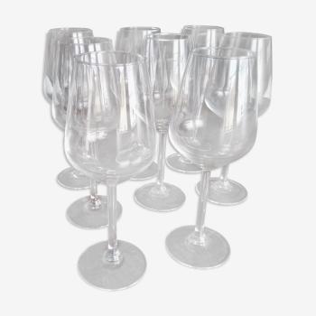 Lot de 10 verres à vin de dégustation, en verre transparent