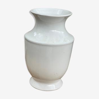 Vase blanc céramique années 70