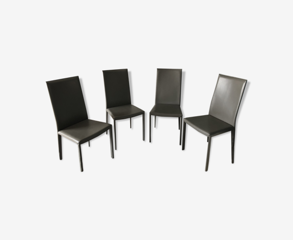 Chaises en cuir Roche Bobois