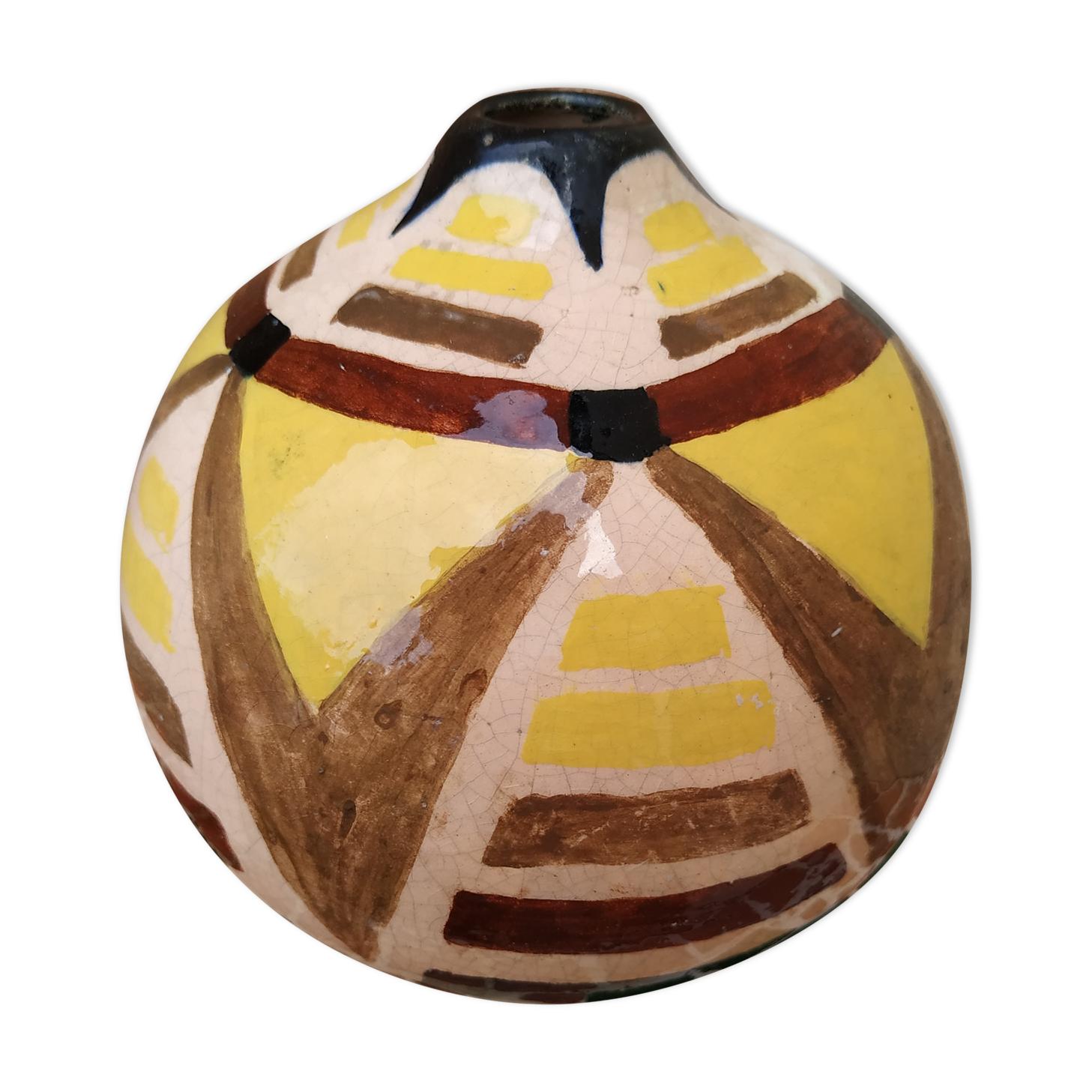 Vase boule design art déco