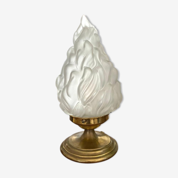 Lampe à poser vintage globe flamme 34cm