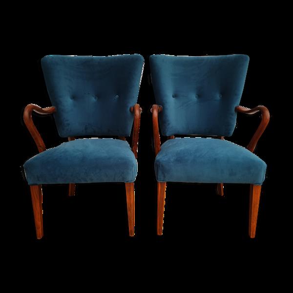 Paire de fauteuils danois Alfred Christensen, 1960