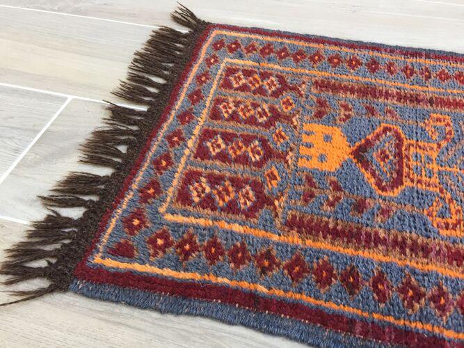 Tapis oriental pure laine, 78 x 48cm