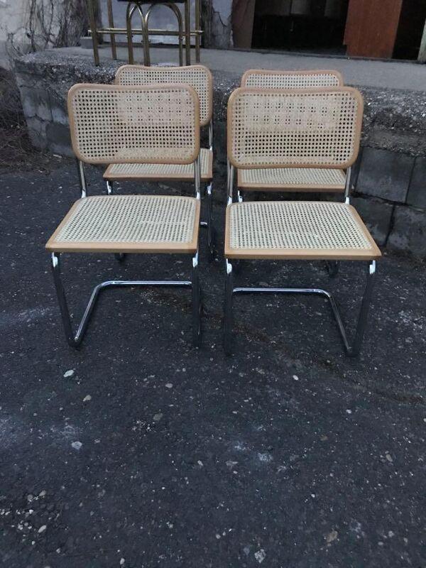 4 chaises Cesca Marcel Breuer