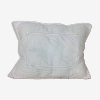 Housse de coussin blanche 38x 28 cm