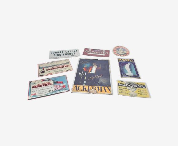 8 Publicités Cartonnés