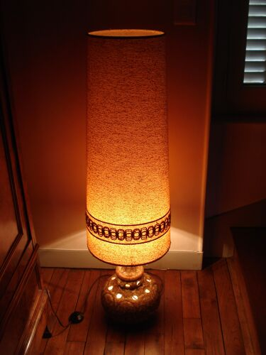Lampe de sol vintage ceramique 1970