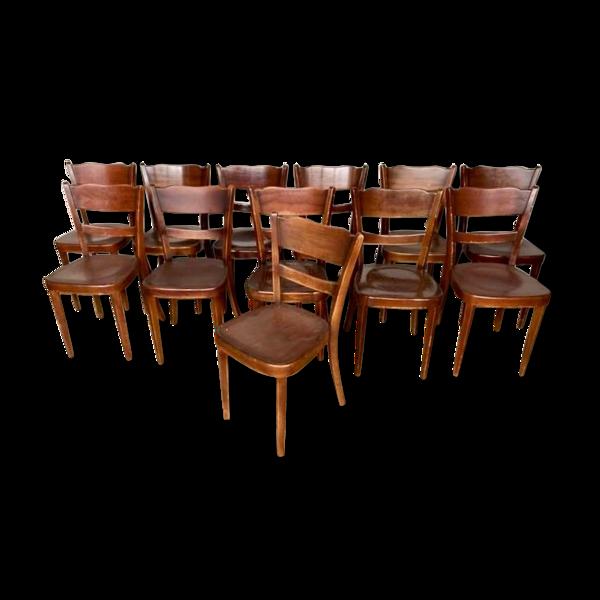 Lot de 26 chaises bistrot bois courbe