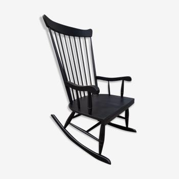 Rocking-chair noir vintage
