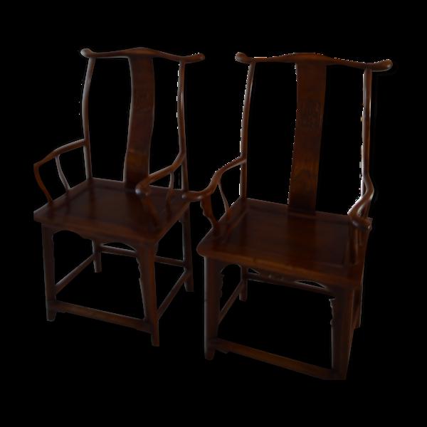 Selency 2 anciens fauteuils bonnet de lettré