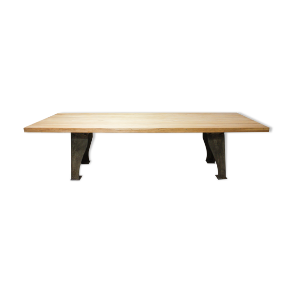 Selency Oak industrial table, 1940