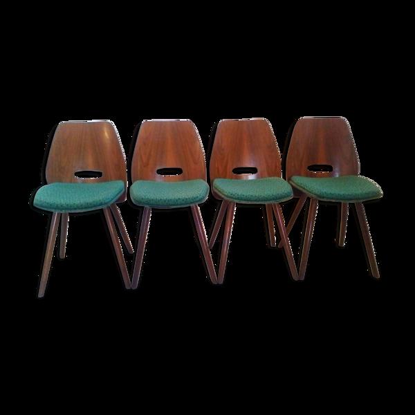 Chaises de salle à manger art déco en hêtre de Tatra Pravenec,