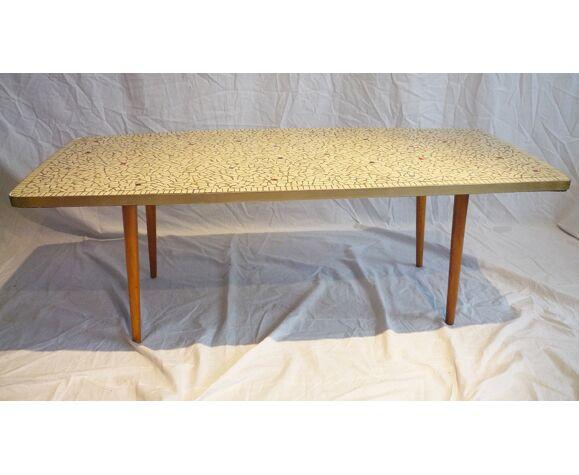 Table basse mosaïque tessons