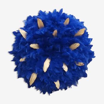Plumes Baroques – Bleu klein et or