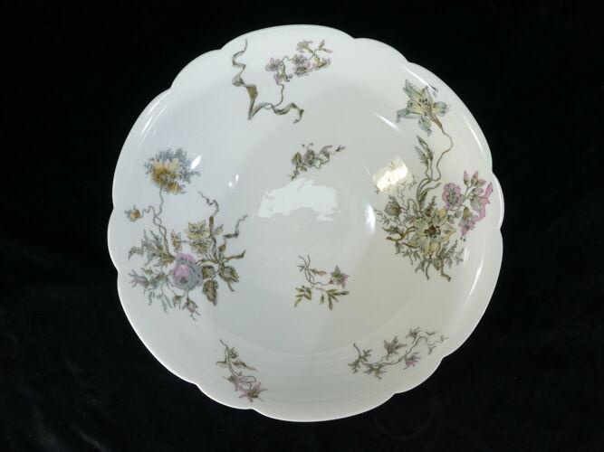 Saladier en porcelaine de Limoges pour E.Bourgeois paris