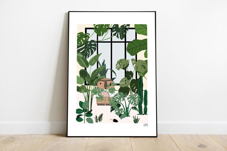 """Illustration """" Le jardin secret de la Cailloute """""""