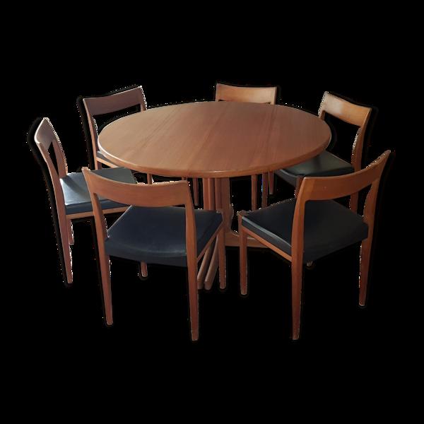 Ensemble de salle à manger vintage scandinave