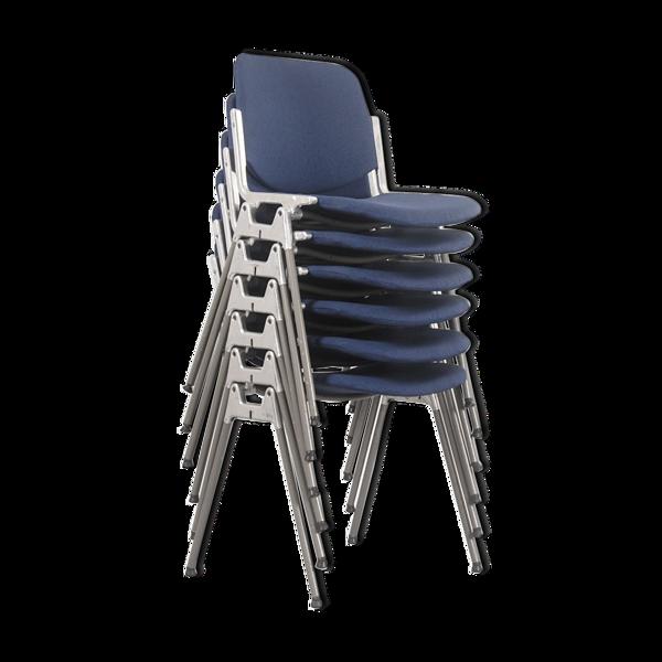 Selency Lot de 6 chaises DSC 106 par Giancarlo Piretti Pour Castelli