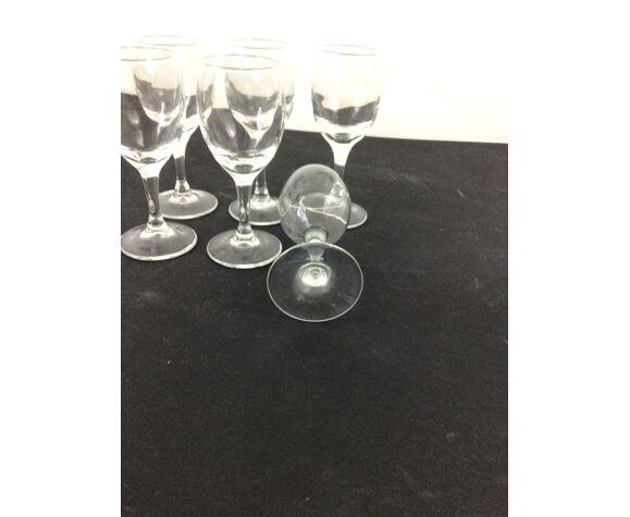 Set de 6 verres de comptoir années 70-80