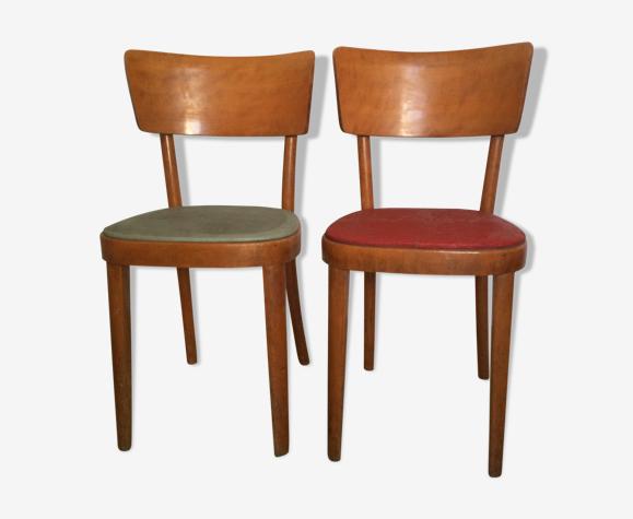 Paire de chaises bistrot rétro vintage