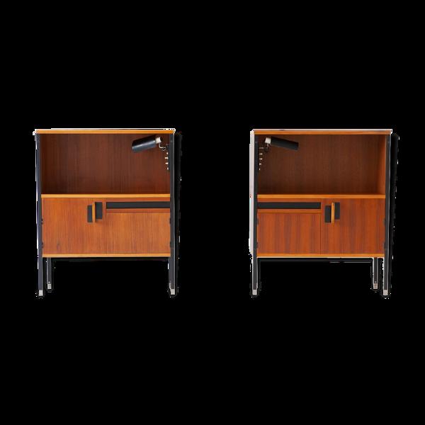 Selency Paire de tables de chevet d'Ico Parisi pour MIM avec lampes Gino Sarfatti, 1958
