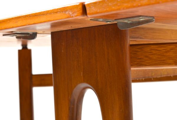 Drop-Leaf Teak Dining Table by Bendt Winge