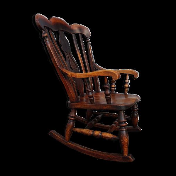Chaise à bascule Antique Windsor, 1860