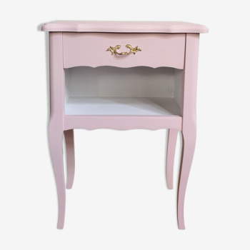 Table de chevet rose