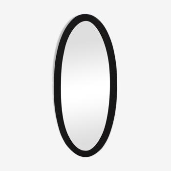 Miroir en bois noir art déco 1930 59x133cm