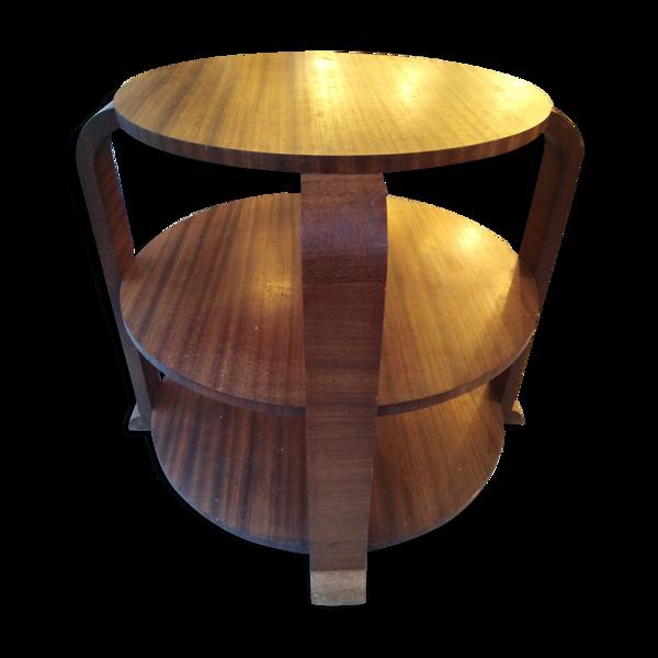 Guéridon table salon style art deco palissandre