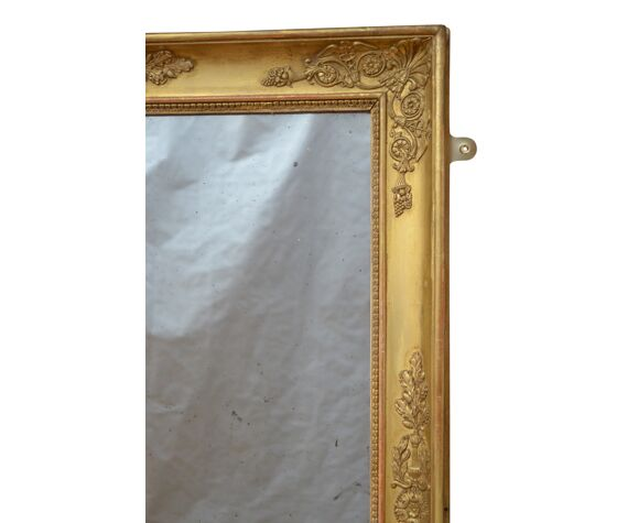 Miroir mural Giltwood du XIXe siècle