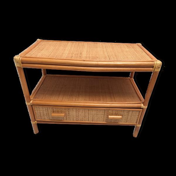 Table basse avec tiroir rectangulaire années 60-70