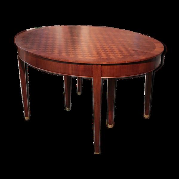 Table ovale en acajou XXème