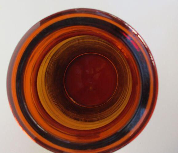 Lot  de 3 flacons anciens en verre ambré