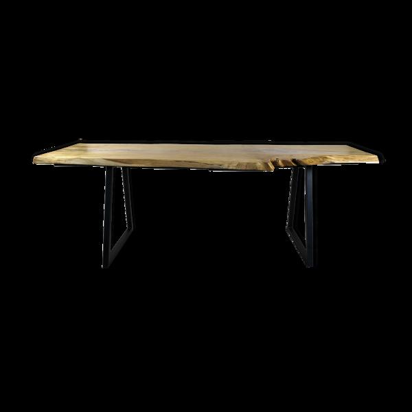 Selency Table monolithe en chêne naturel
