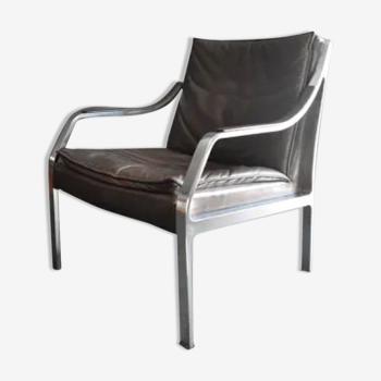 Fauteuil en cuir design Walter Knoll